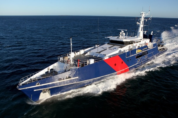 New Cape Class patrol boats are equipped with twin Cummins QSM11 gensets which provide the critical power for the sophisticated electronics systems for command, control and communications.